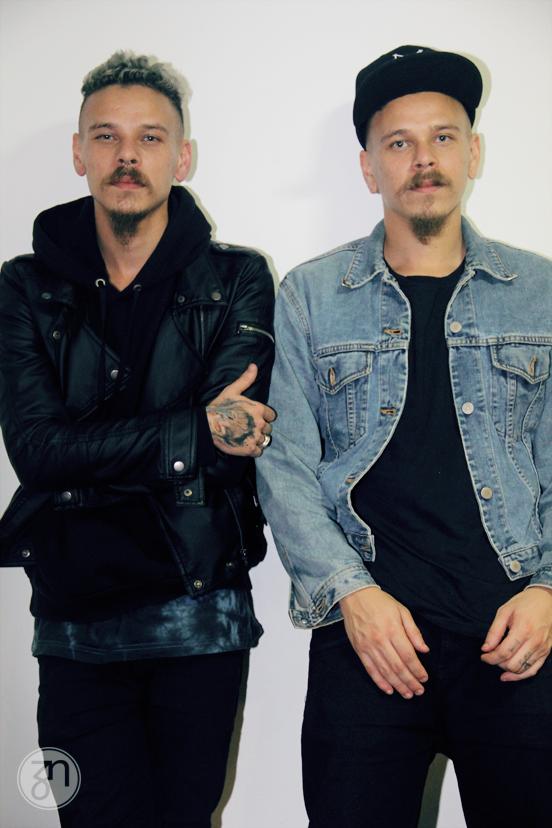 Os gêmeos Keops e Raoni da banda Medulla | Foto: Thayane Dantas