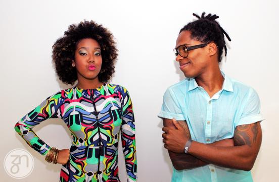 Os lindos e estilosos Lelezinha Ferreira e Rafael Mike, do Dream Team do Passinho   Foto: Fabiano Albergaia